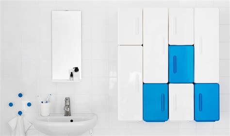 ikea badezimmer blau badezimmer eingerichtet u a mit lejen schr 228 nken in
