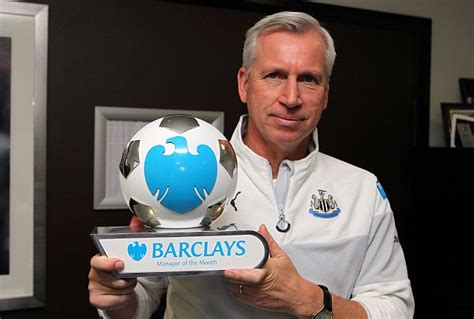 epl manager of the month alan pardew named barclays premier league manager of the
