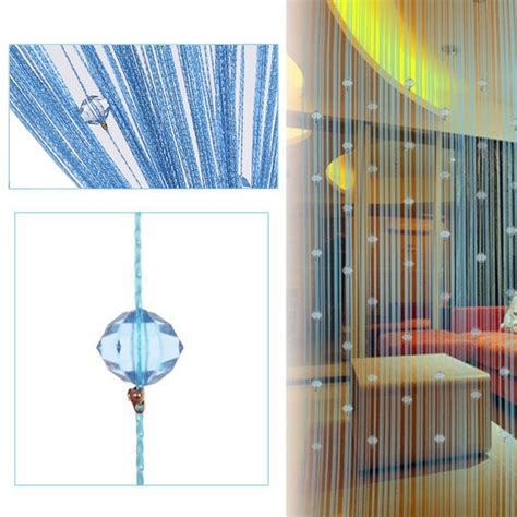 crystal door curtain artistic string tassel curtain crystal bead door window