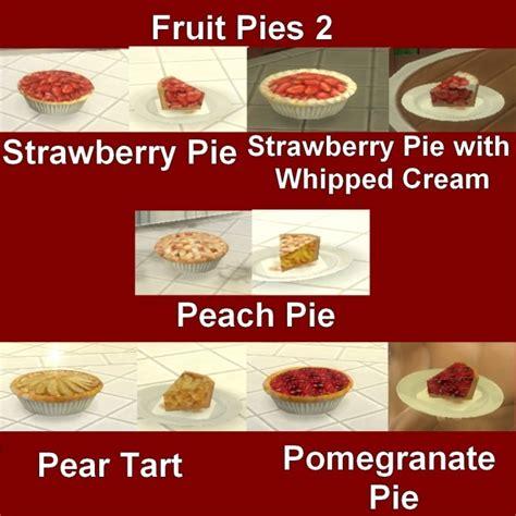 Custom Food custom food fruit pies 2 by leniad at mod the sims 187 sims
