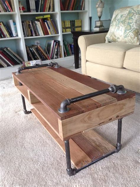 Handmade Pallet Furniture - handmade industrial pallet coffee table pallet furniture