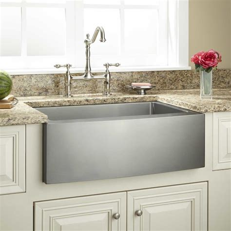 curved stainless steel sink faucets kitchens island sinks white 30 quot optimum stainless steel farmhouse sink curved front