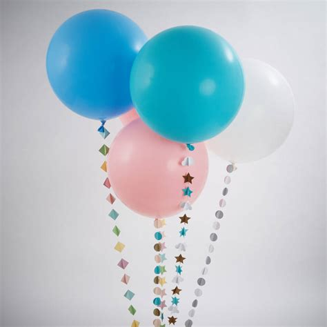 pastel balloon with handmade by pink