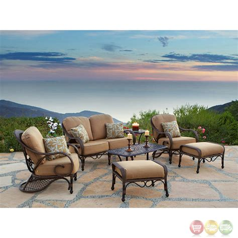 weather resistant patio furniture grand bonaire 7 weather resistant wicker patio furniture set
