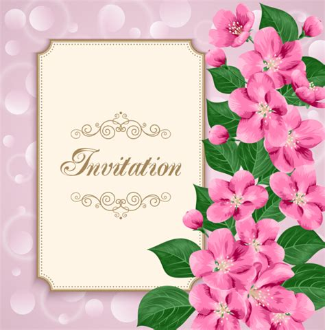 Birthday Card Vintage Template by Floral Invitation Free Template Orderecigsjuice Info