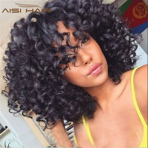 curly black bohemian hair brazilian virgin aunty funmi hair short curly weave human