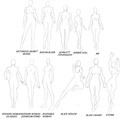 the gallery for gt female superhero body template