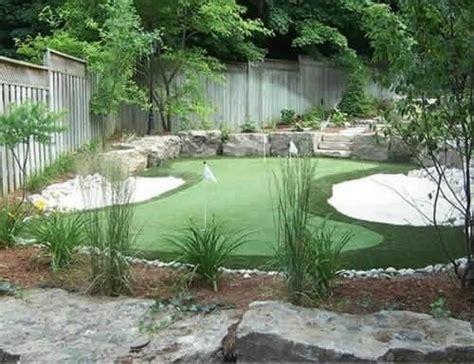 Backyard Putting Green Designs by Home Golf Greens Home Ideas