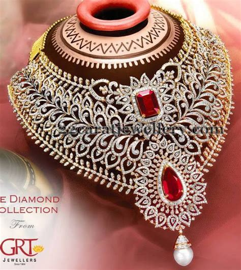 Choker Two Rows Diamonds Choker maharani choker in diamonds jewellery designs