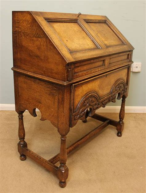 Antique Oak Writing Desk by Antique Oak Bureau Writing Desk 303247