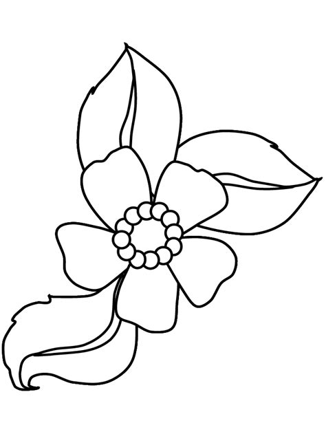 Cartoon Flower Coloring Page | cartoon flower coloring pages flower coloring page
