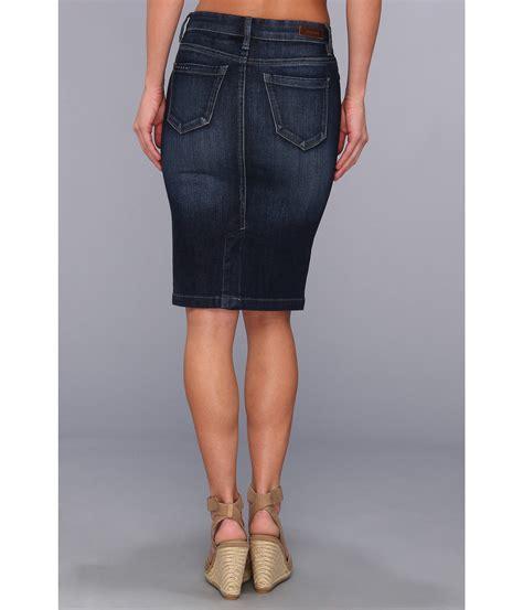 blank nyc denim pencil skirt in denim blue zappos