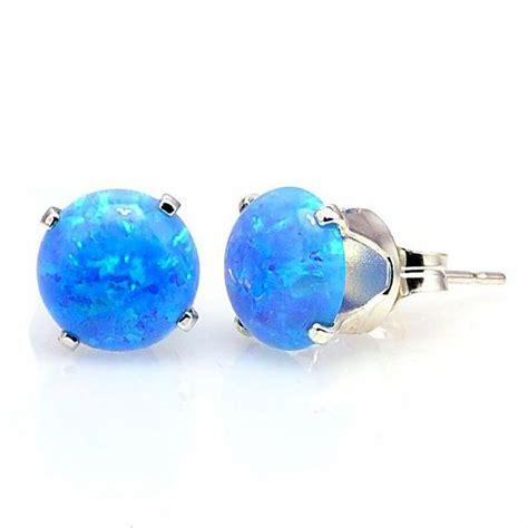 8mm australian fiery white opal stud post earrings 17 best images about earrings on mickey mouse