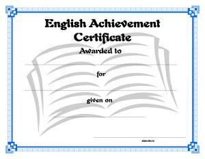 Templates For English Certificates | certificate template for kids free printable certificate