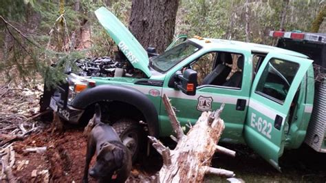 service oregon usfs engine and two atvs stolen in oregon wildfire today