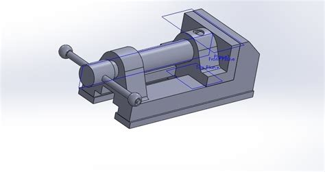 bench vice assembly bench vice stl solidworks solidworks 3d cad model