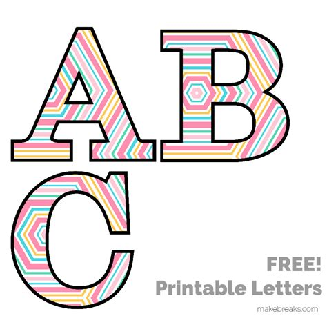 Printable Patterned Letters | free printable letters numbers archives make breaks