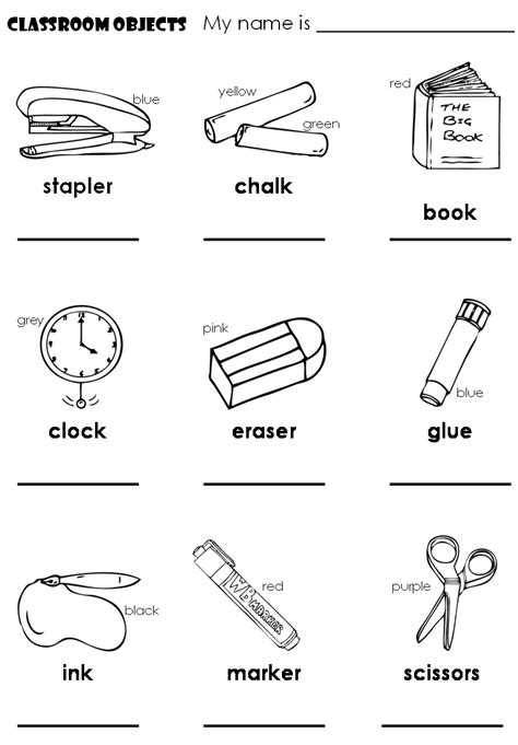 coloring pages for kids classroom objects english lessons children lesson 2 classroom objects