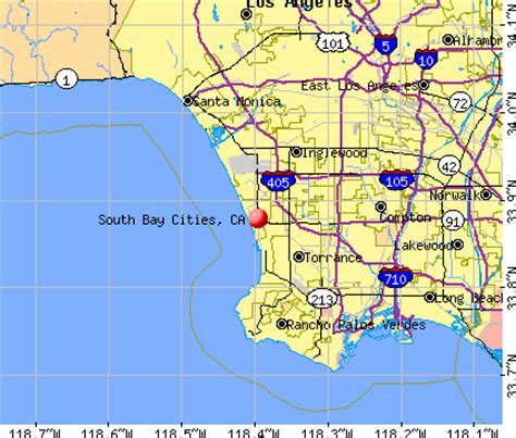 california map and south south bay cities california ca 90266 profile