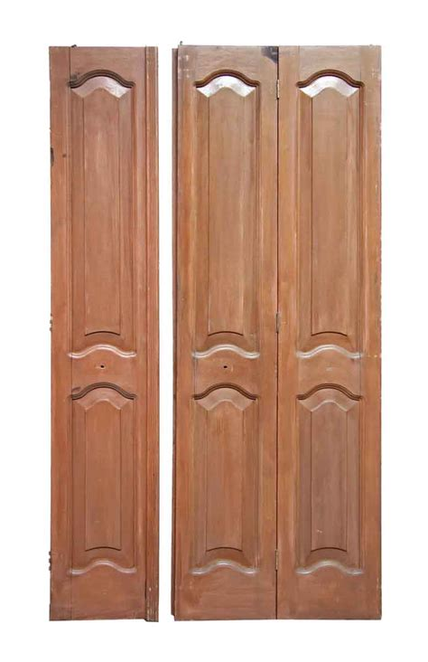 Mahogany Closet Doors Antique Mahogany Folding Doors With Arched Panels Olde Things