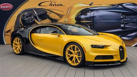 yellow bugatti chiron first u s bugatti chiron delivered to customer at pebble