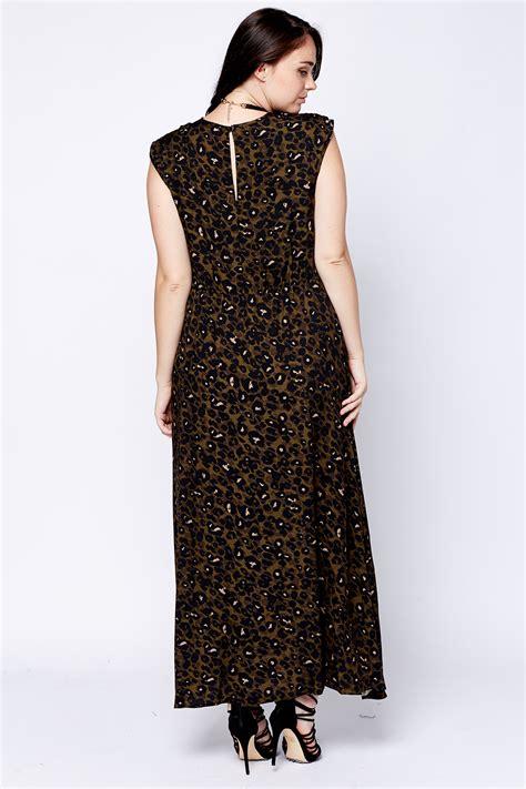 Army Maxi Dress army green leopard print maxi dress just 163 5