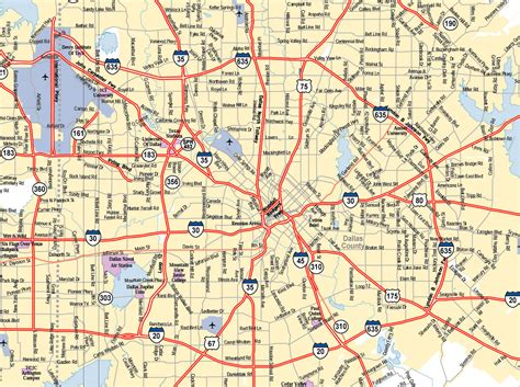 map dallas texas surrounding area dallas texas city map dallas texas usa mappery