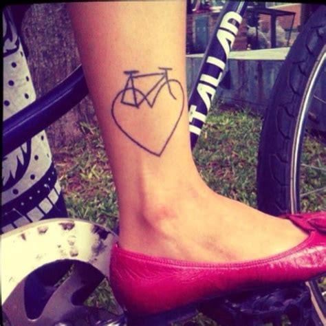 heartbeat bike tattoo 21 small bicycle women tattoo ideas to repeat styleoholic