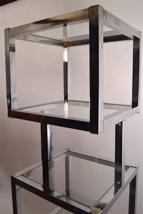 etagere 170 cm chrome cube form etagere for sale at 1stdibs