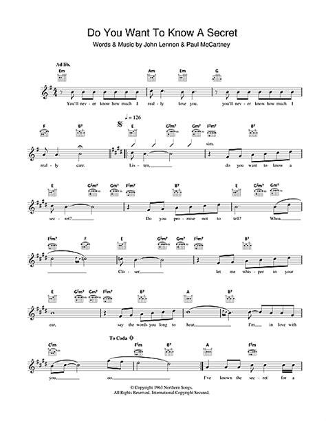 secret chords do you want to a secret accords par the beatles