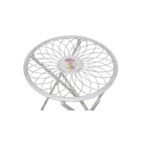 wrought iron folding table folding side table wrought iron collection quot floral medallion quot