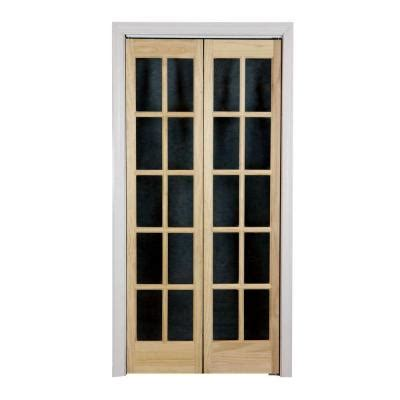 Home Depot Interior Double Doors Pinecroft 36 In X 80 In Classic French Glass Wood
