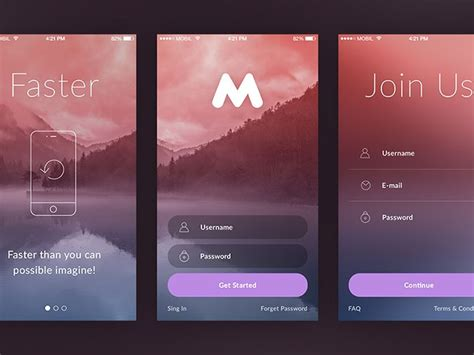 50 Modern Sign Up Login Form Ui Designs Filemakerprogurus Ios App Terms And Conditions Template