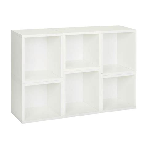 way basics arlington 6 cube stackable modular bookcase