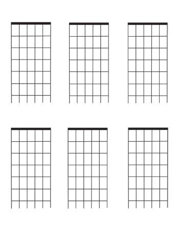 fret template guitar fretboard diagrams six frets