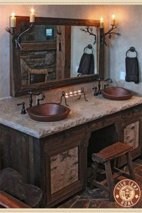 log cabin bathroom vanities log cabin bathroom ideas future cabinbathroom cabin