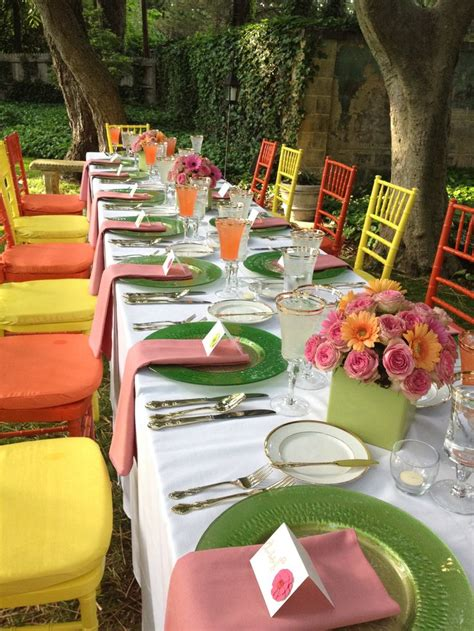 outdoor table setting outdoor reception table setting tablescapes pinterest