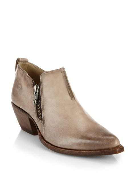 motocross ankle lyst frye sacha moto shortie leather ankle boots in natural