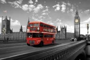 Unique Coasters London Westminster Bridge Bus Poster Sold At Europosters