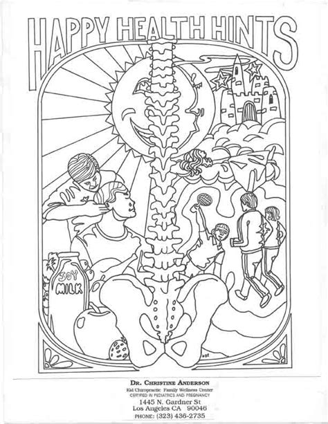 chiropractic coloring pages for kids coloring home