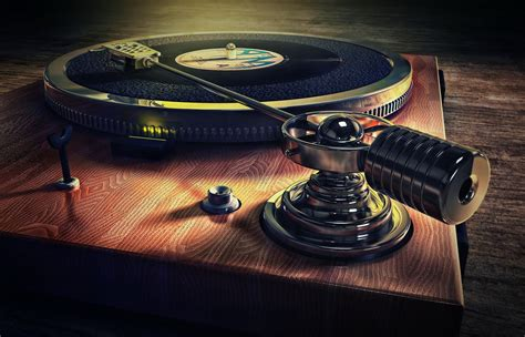 old style record deck music background hd wallpaper