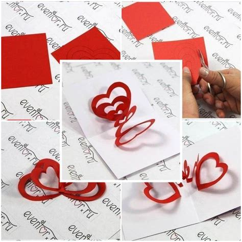 how to make valentines day cards diy 3d hearts s day card