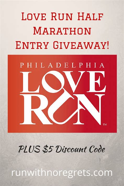 Love Giveaway - love run half marathon giveaway run with no regrets