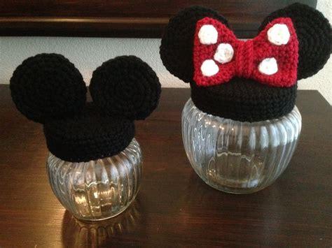 Boneka Tangan Minnie Mouse mickey minnie mouse jar my crochet haken mickey minnie mouse jars and mice