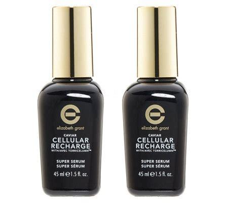 elizabeth grant caviar cellular recharge face serum duo je