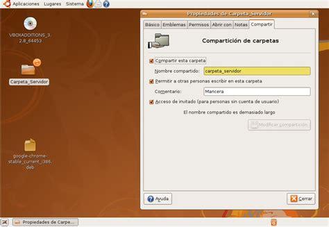 compartir escritorio ubuntu compartir archivos en ubuntu mancera