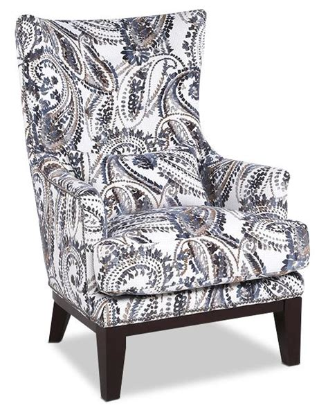 black and white paisley chair haden fabric accent chair paisley the brick