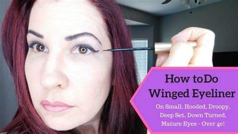 eyeliner tutorial for droopy eyes easy eye makeup and winged eyeliner tutorial for mature