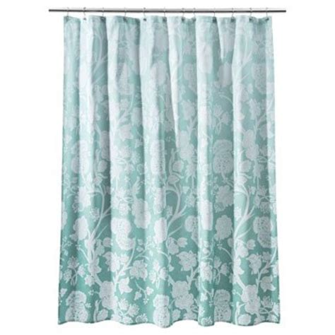 target curtains blue target home blue ombre floral fabric shower curtain aqua