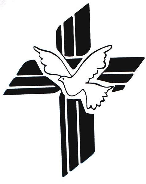 cross clipart cross with dove free images at clker vector clip